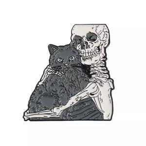 {5/$25} goth cat lover enamel pin